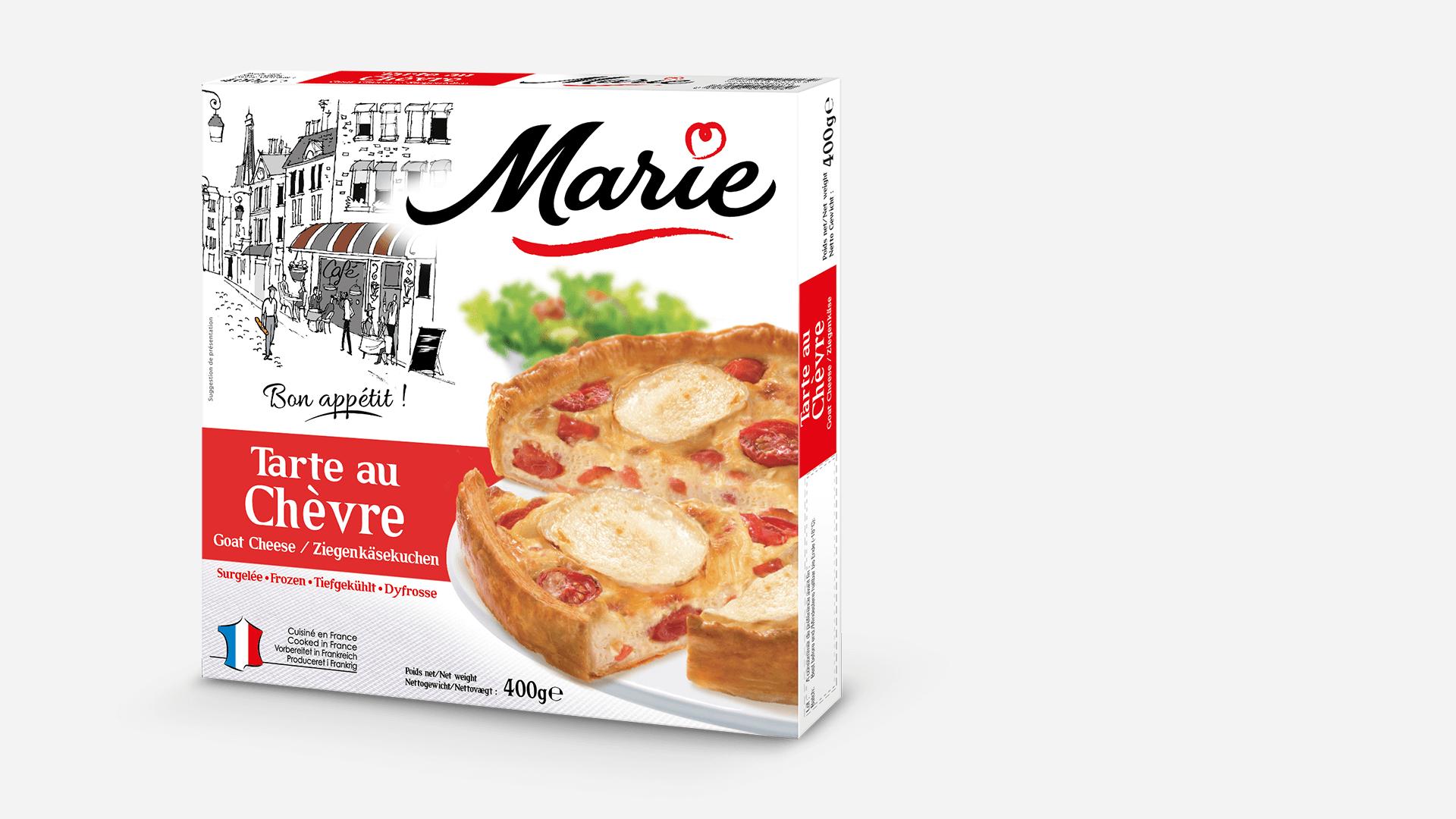 Pack de la tarte au chèvre Marie surgelé
