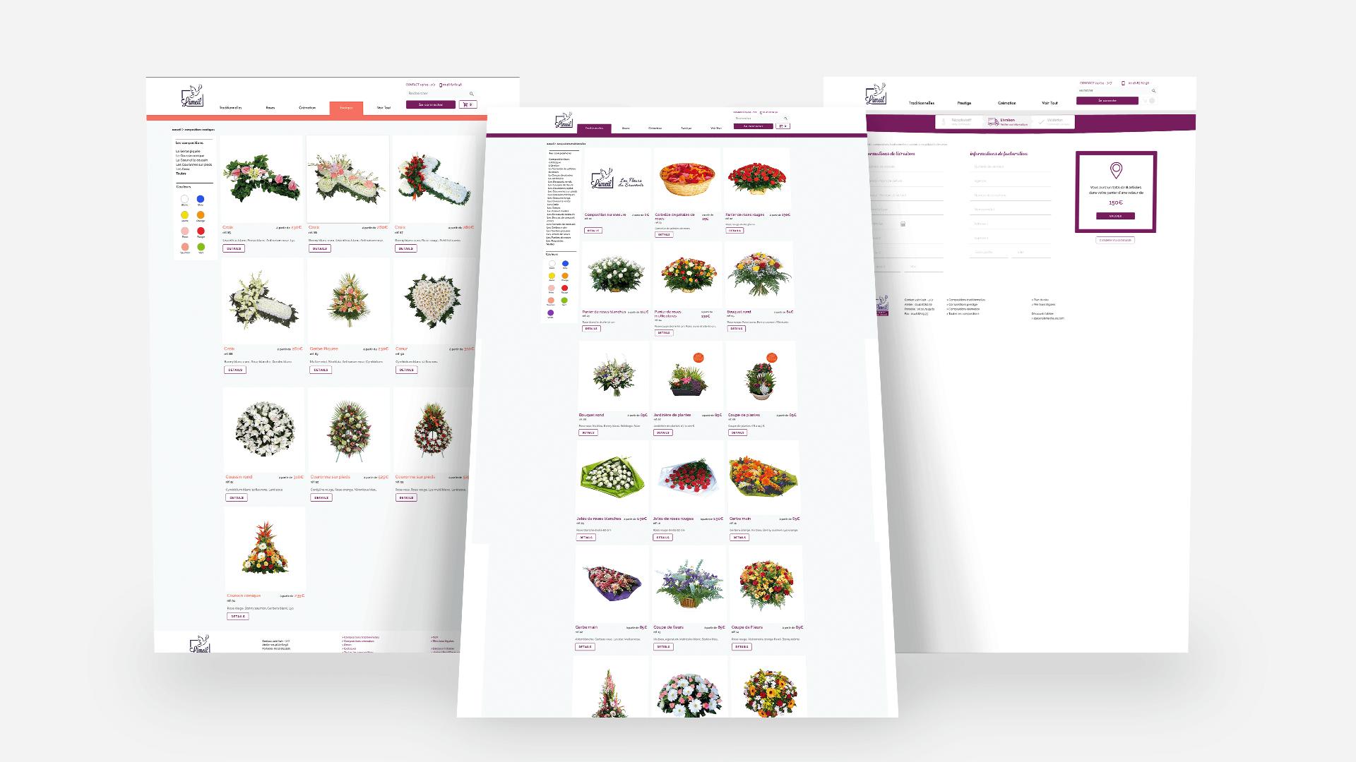 Screenshot des pages du site Limeil Fleurs