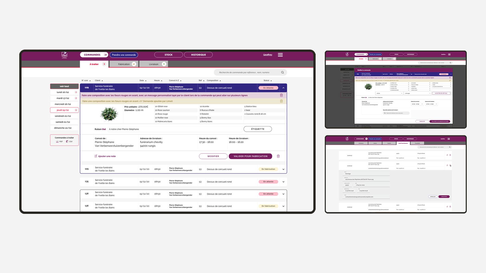 Screenshot de l'application Limeil Fleurs