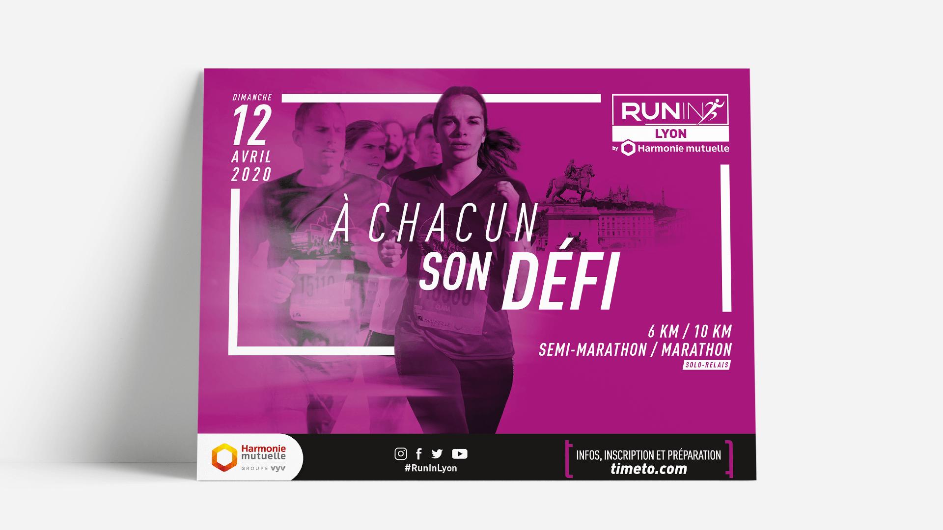 Affiche Run In de Lyon by ASO en format horizontal