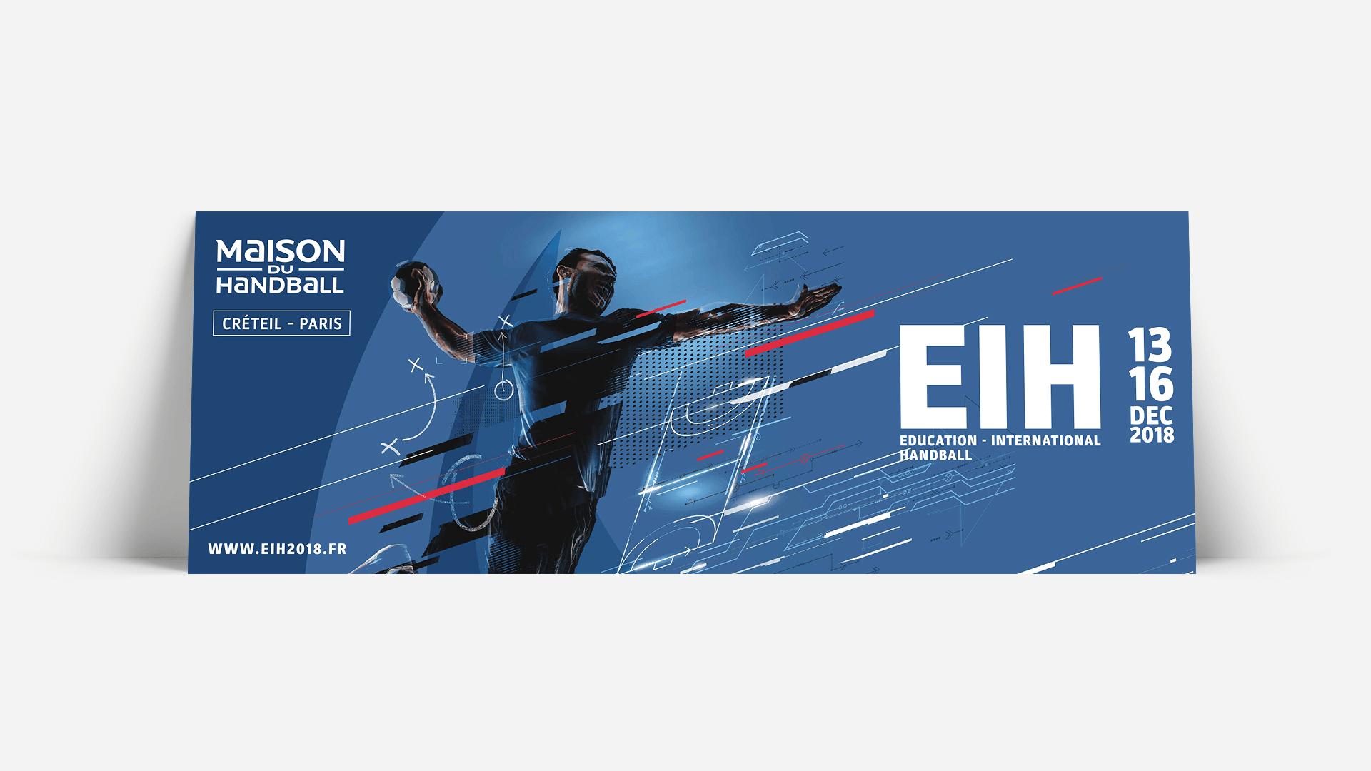 Affiche école Internationale de Handball format horizontal