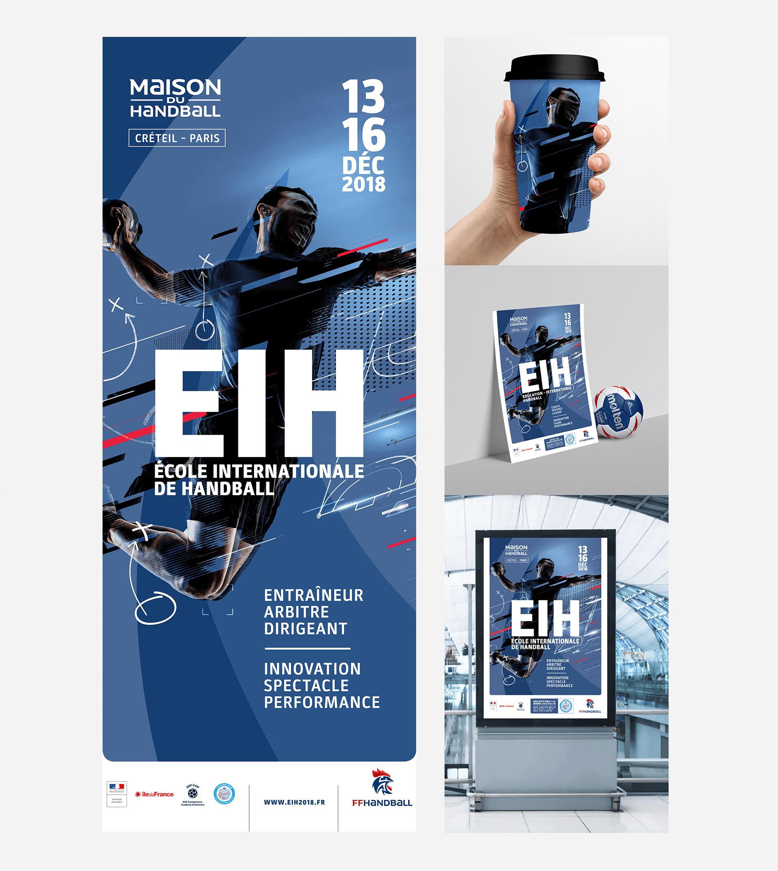 Affiche, kakémono, ballon et tasse école Internationale de Handball