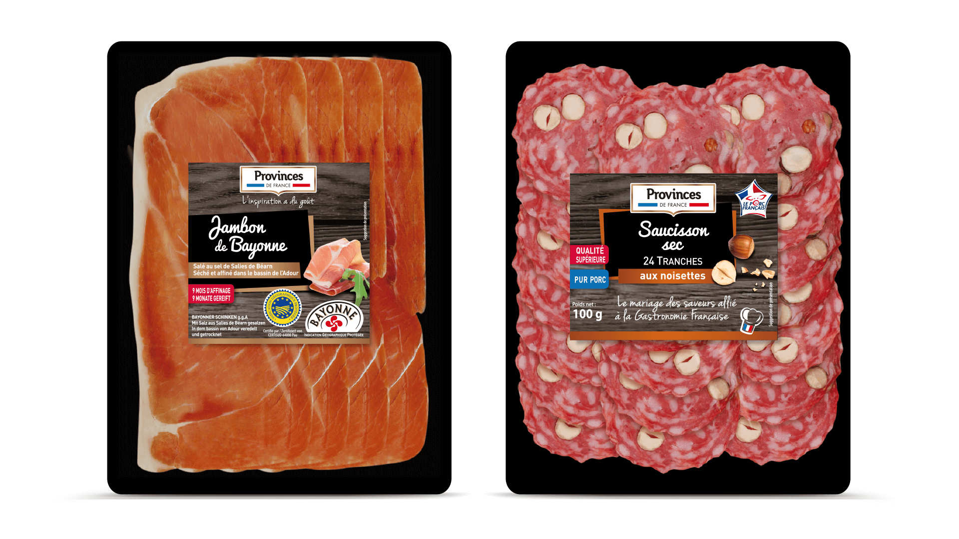 deux packs de Charcupac pour Provinces de France