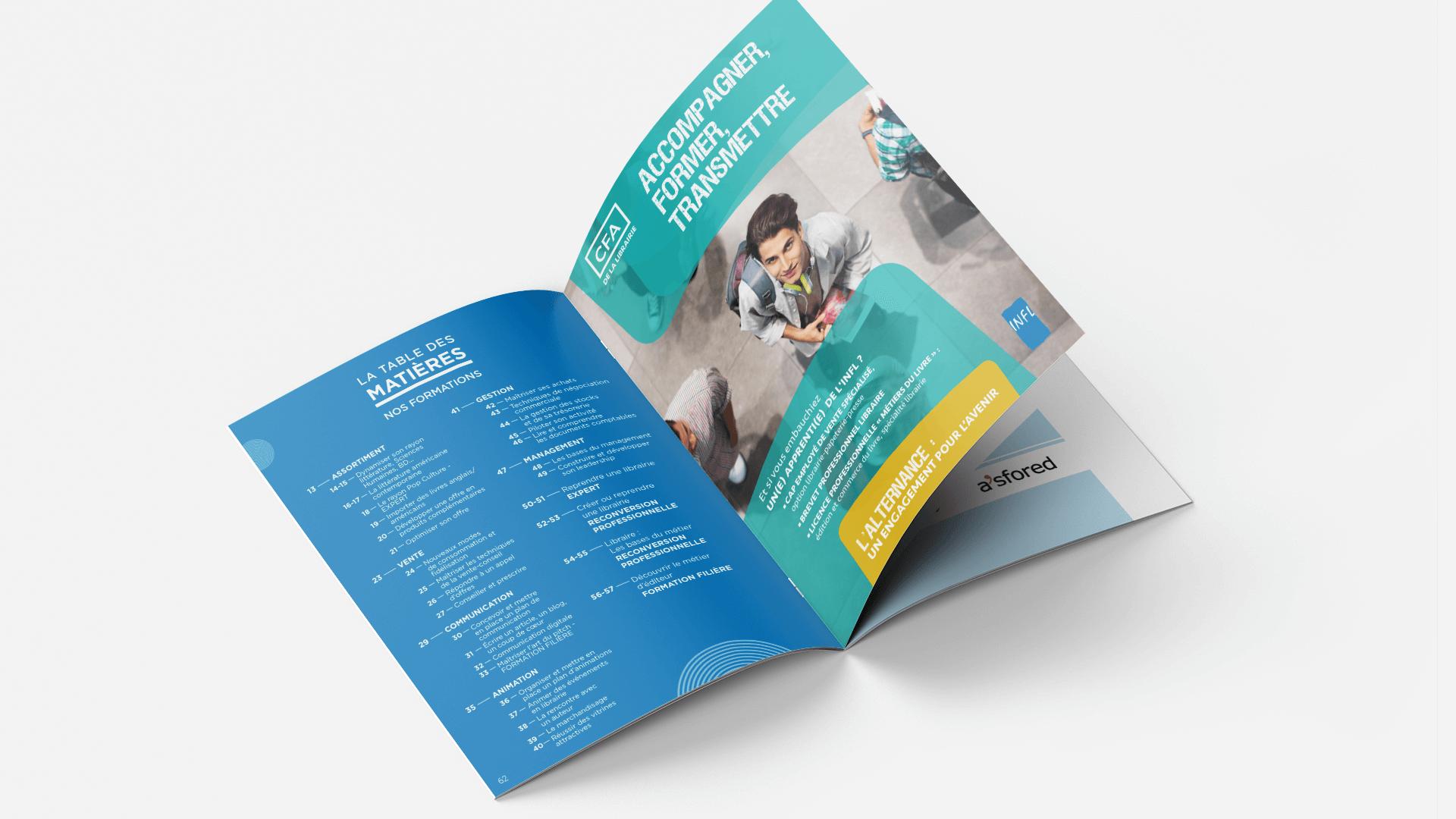 page table des matières du catalogue de formation de l'INFL