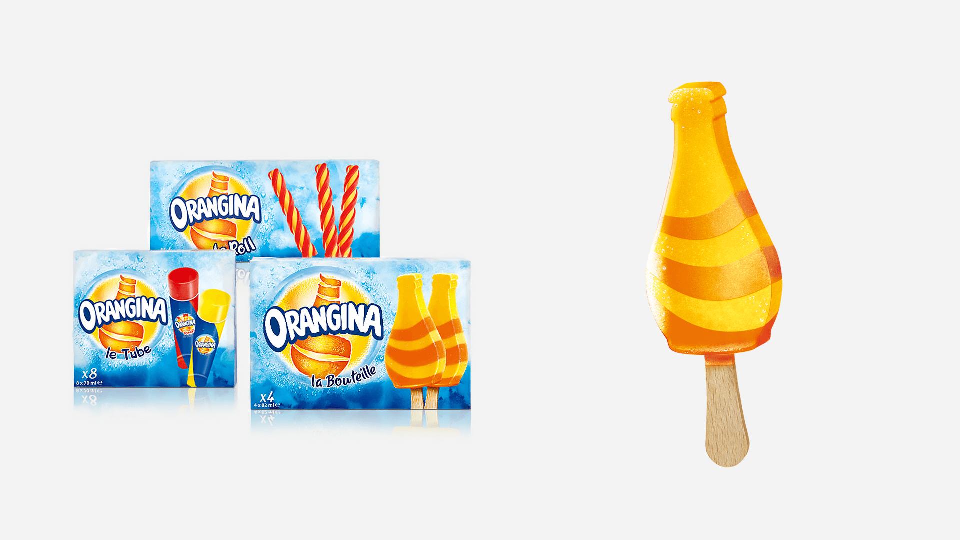 Packs et glace Orangina