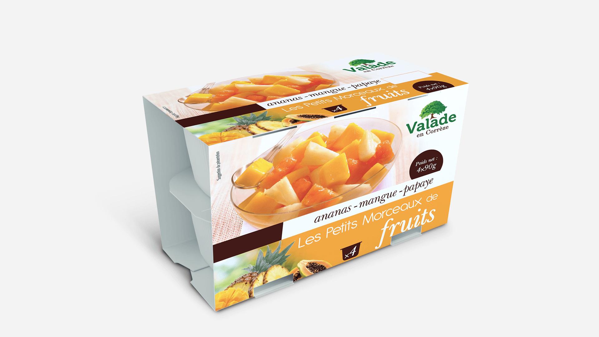 packaging fruit en morceaux Valade en Corrèze