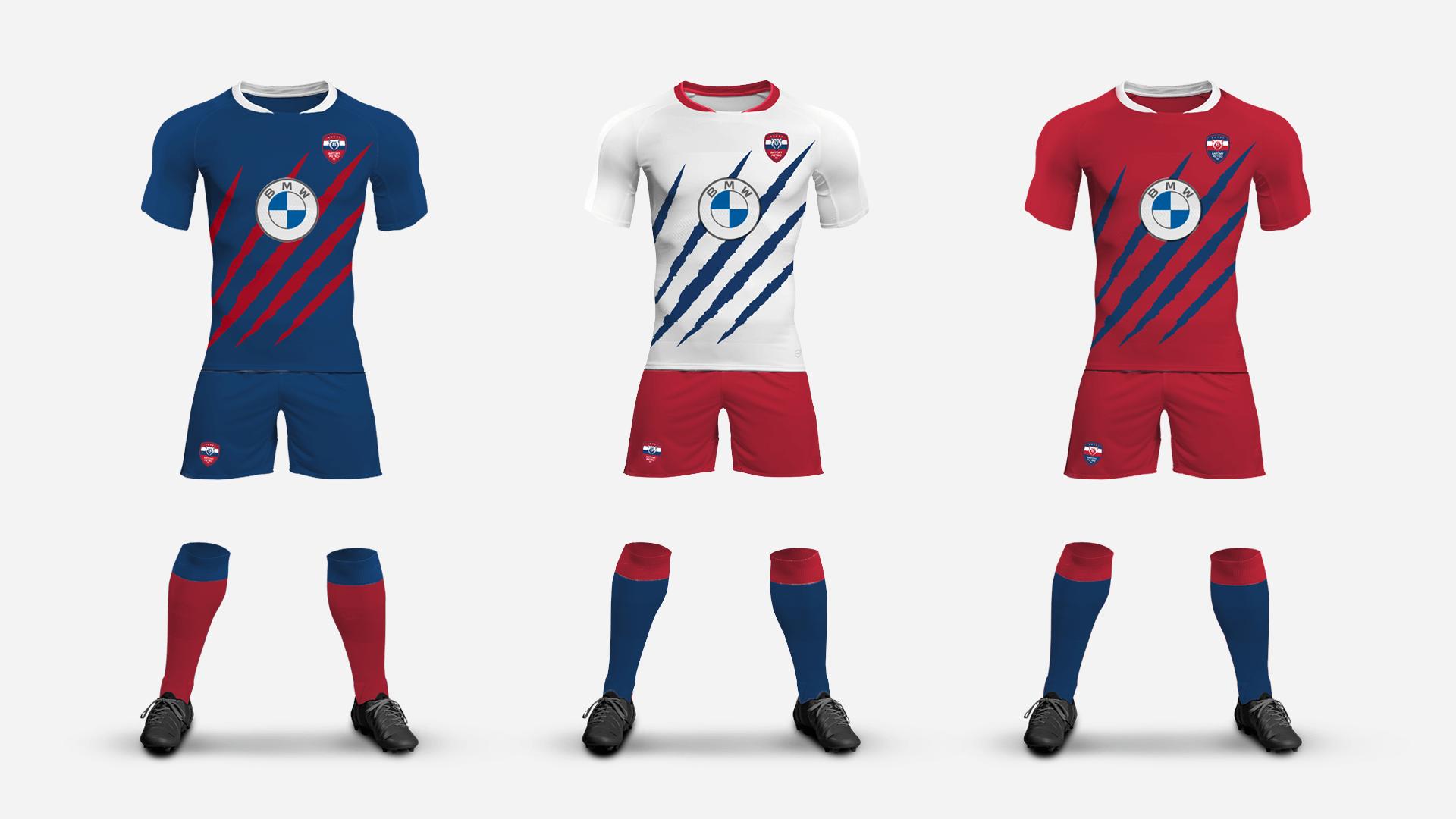 trois tenues complète avec maillot du club Antony metro 92