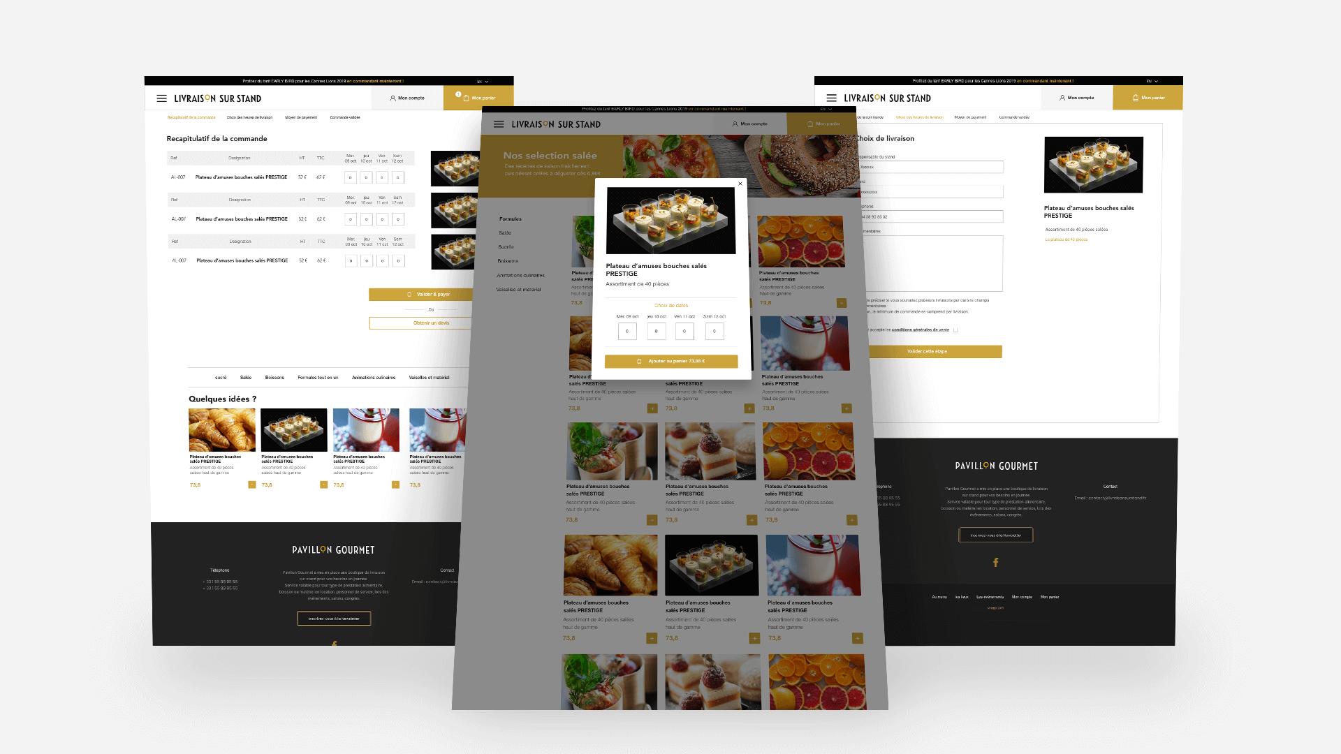 les pages du site Pavillon Gourmet