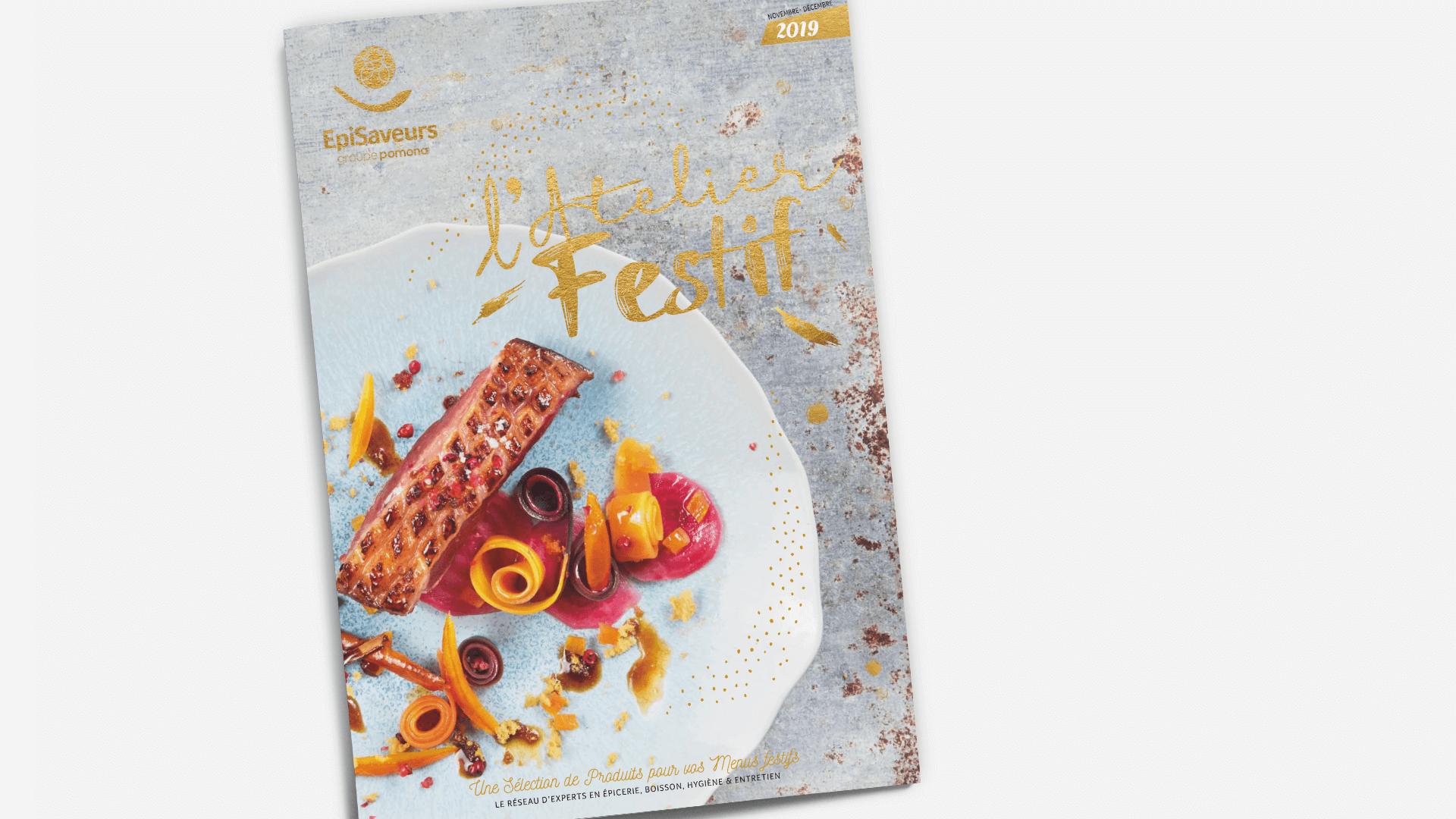 couverture du catalogue l'Atelier Festif d'EpiSaveurs