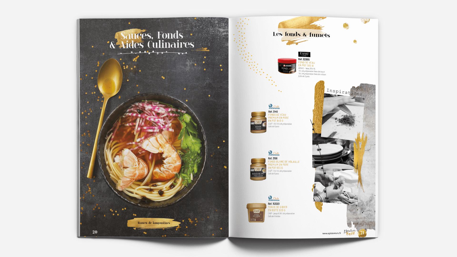 page thématique du catalogue l'Atelier Festif d'EpiSaveurs