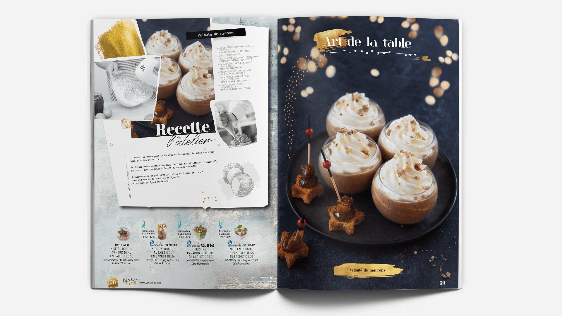 page recette du catalogue l'Atelier Festif d'EpiSaveurs