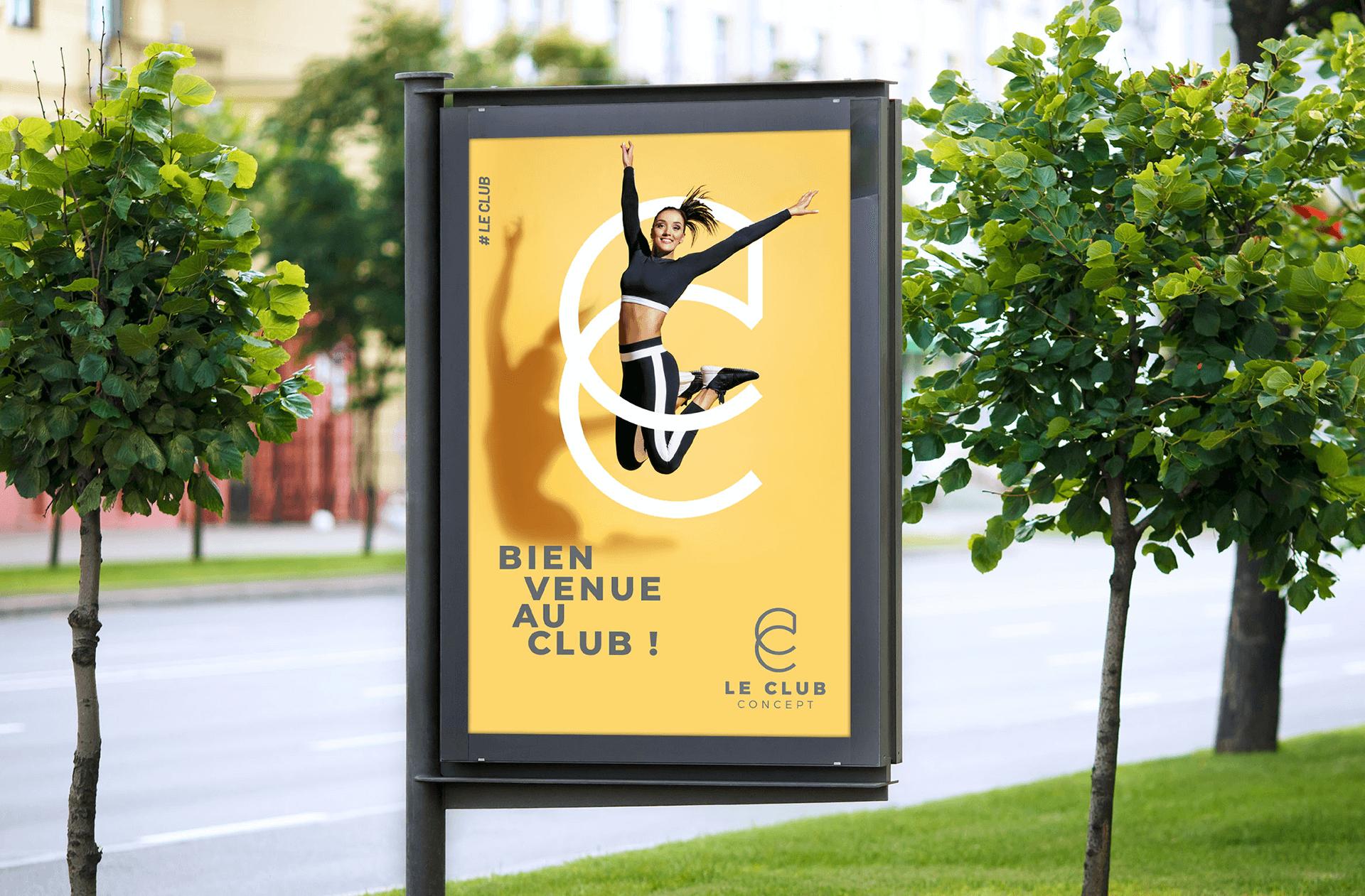 mise en situation de l' affiche Le Club Concept