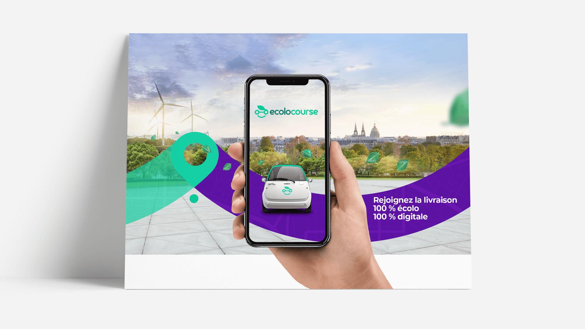 affiche et mobile Ecolocourse