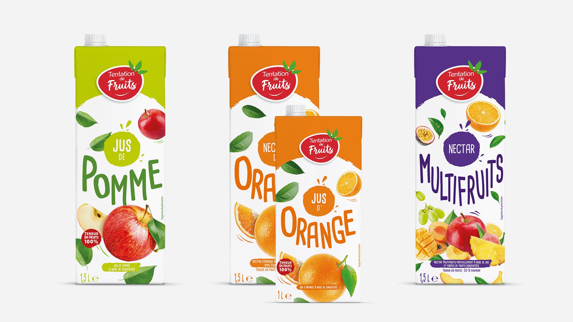 les pack des briques Tentation de Fruits de Fructa