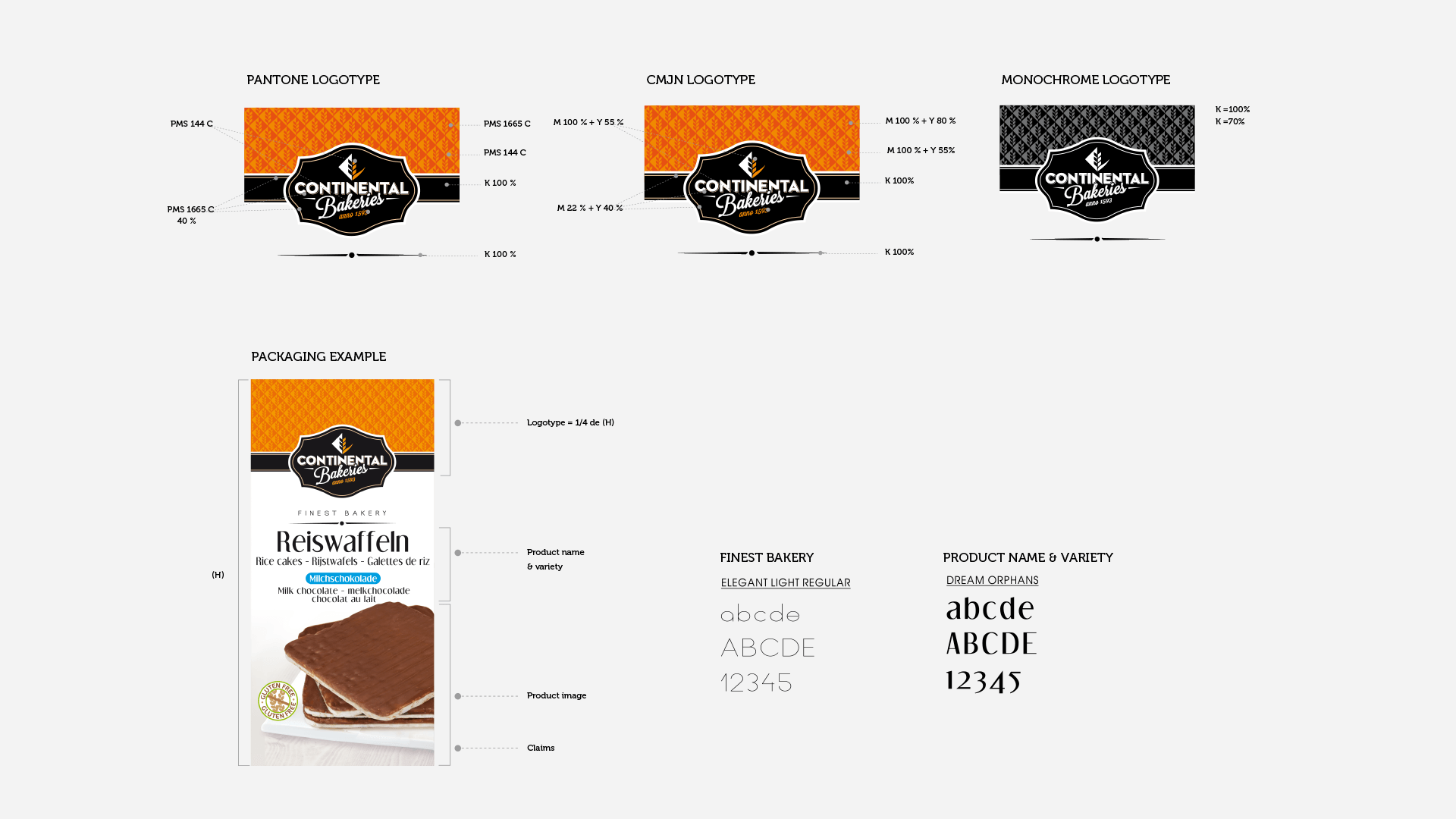 charte graphique Continental Bakeries