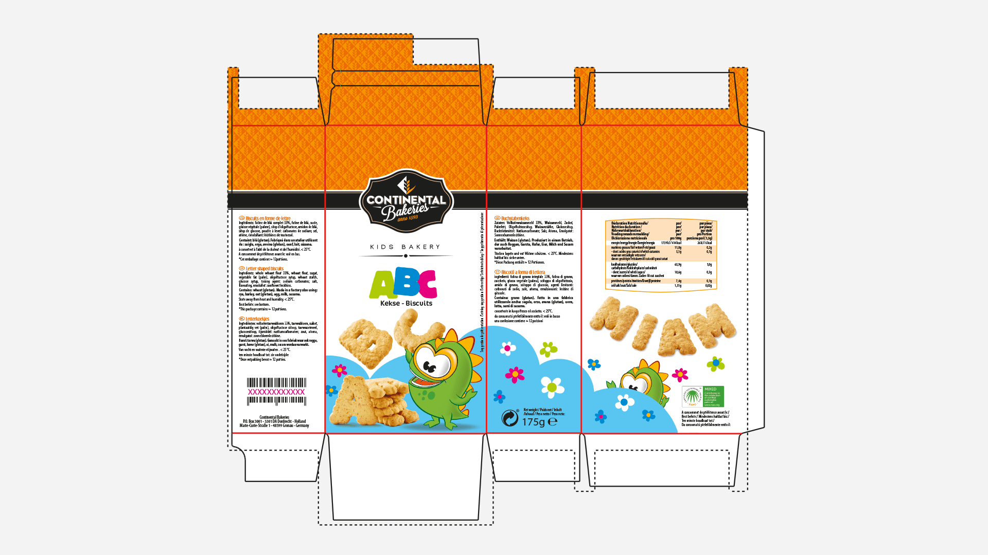 packaging à plat Continental Bakeries
