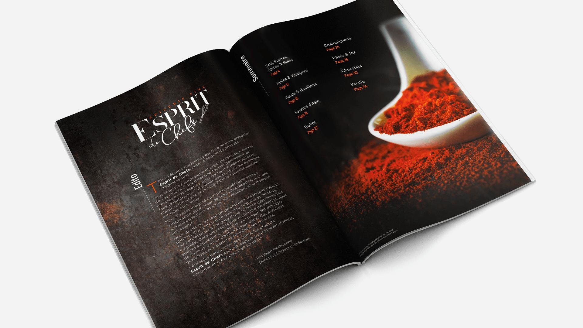 pages intérieurs du catalogue Esprit de Chefs d'EpiSaveurs