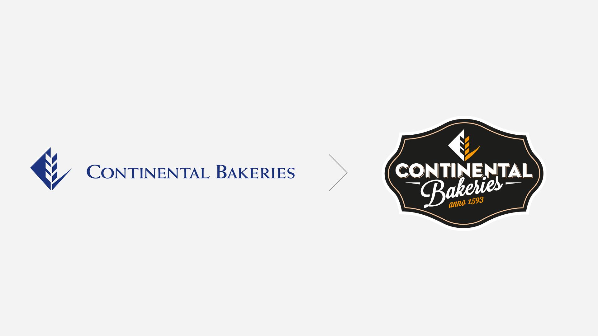 logo avant après Continental Bakeries