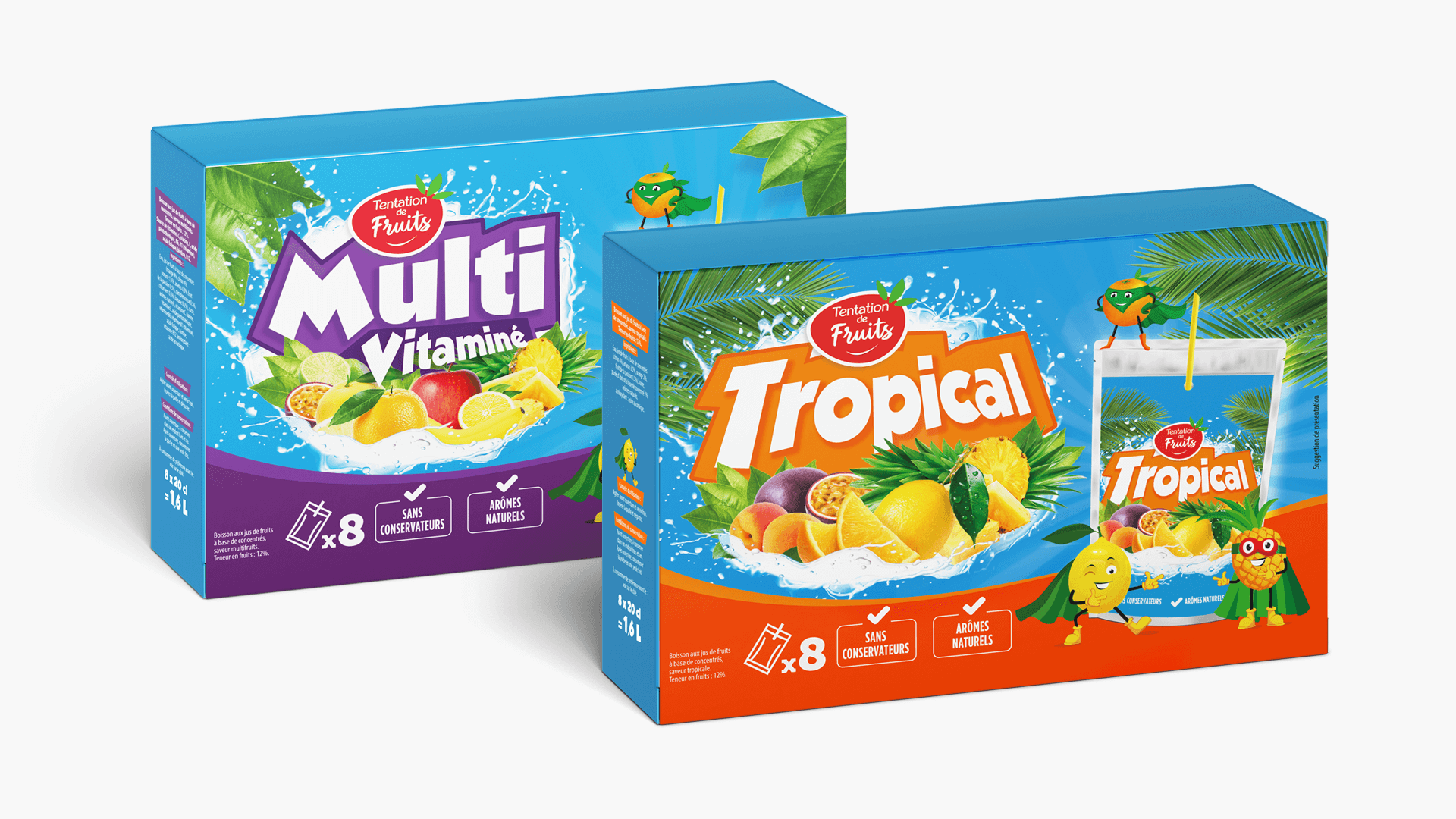 les boxes Tentation de Fruits de Fructa