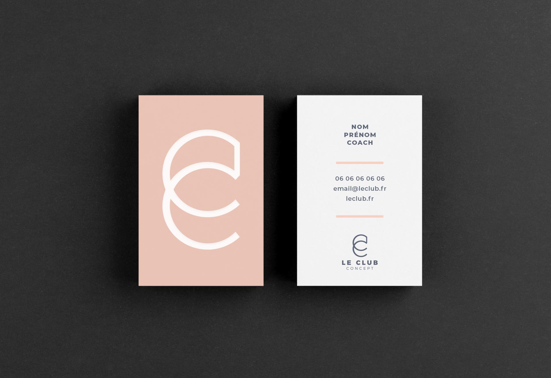 carte de visite recto verso Le Club Concept