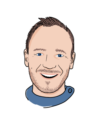 illustration portrait Geoffrey